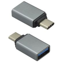 Mobilnet adaptér OTG USB Type C / USB čierny