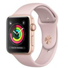 APPLE Watch Series 3 42mm (zlatý hliník/pieskovo rúžový športový remienok)