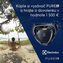 Súťaž o dovolenku v hodnote 1500 € k robotickému vysávaču Electrolux