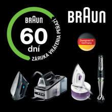 60 dní záruka vrátenia peňazí na žehličky a mixéry Braun