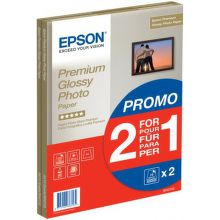 EPSON S042169 PREMIUM GLOSSY PHOTO PAPIER, A4, 1+1 (30 listov), 255g