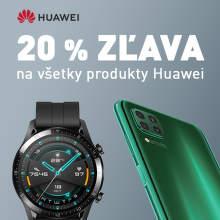 20% zľava na všetky produkty Huawei