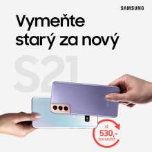 Získajte späť až do 530 € za váš starý telefón pri kúpe Samsung Galaxy S21 5G