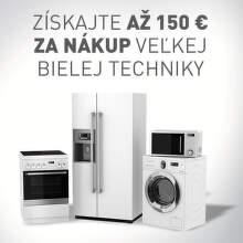 Až 150 € späť na NAY Extra kartu za nákup veľkej bielej techniky