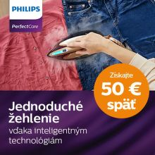 Cashback až do 50 € na parné generátory Philips