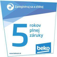 5-ročná záruka na spotrebiče Beko