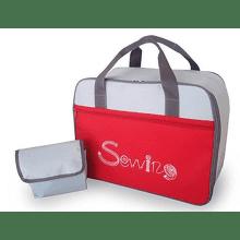 Toyota TA - taška na šijací stroj (červeno - šedá)