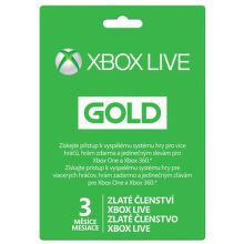 XBOX 360 LIVE SK Gold karta 3 mesiace