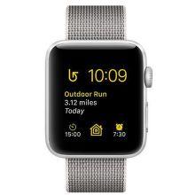 Apple Watch Series 2 42mm (strieborný hliník / perlovo šedý remienok z tkaného nylonu)