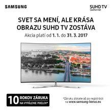 10-ročná záruka na vypálenie pixelov dispelaj TV Samsung