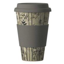 Eco Bamboo Cup Panda ekologický termo hrnček (400 ml)