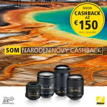 Cashback až do 150 € na produkty Nikon