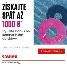 Cashback až do 1000 € na objektívy Canon