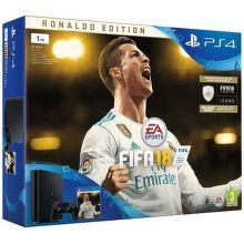 Sony PlayStation 4 Slim 1TB čierny + FIFA18 Ronaldo Edition + PS Plus 14 dní