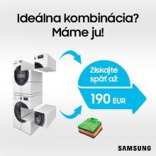 Cashback až do 190 € na veľkú bielu techniku Samsung