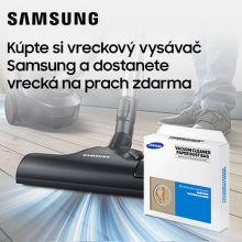 Vrecká do vysávača ako darček k vysávačom Samsung
