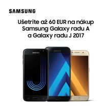 Okamžitý cashback až do 60 € na smartfóny Samsung