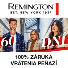 100 dní záruka vrátenia peňazí na produkty Remington