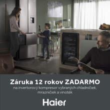 12-ročná záruka na kompresor spotrebičov Haier