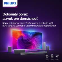50% späť z ceny soundbaru alebo reproduktoru k TV Philips