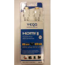 Vega AA-890 - HDMI 1.4, Ethernet, 2m (biely)