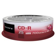 Sony 25CDQ80SP - CD-R 700MB 48x, spindle, 25ks