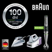 100 dní záruka vrátenia peňazí na mixéry, žehličky a parné generátory Braun