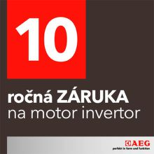 10-ročná záruka na motor invertor AEG