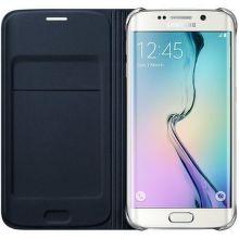 SAMSUNG Flip puzdro EF-WG920BF pre Galaxy S6, Zlatá