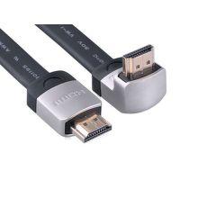 Ugreen 10280 - plochý HDMI kábel, priamy + zahnutý konektor (hore), 3m