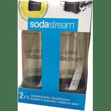 Sodastream Duo Pack šedá náhradná flaša (1l/2ks)