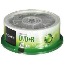 Sony DVD+R 4,7GB 16x, 25ks