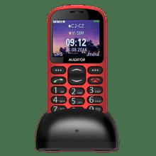 Aligator A880 + nabíjací stojanček, A880RD (červena)
