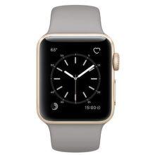 Apple Watch Series 1 38mm (zlatý hliník / cementovo sivý športový remienok)