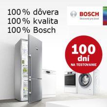 100 dní záruka vrátenia peňazí na veľkú bielu techniku Bosch