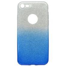 Mobilnet gumené trblietavé puzdro iPhone 7 modré