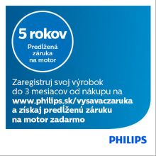 Predĺžená záruka na vysávače Philips
