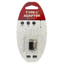 Mobilnet Adaptér micro USB na USB typ C čierny