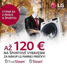 Voucher na športové oblečenie až do 120 € k práčkam LG