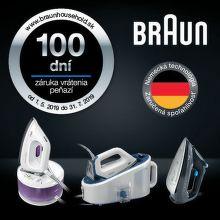 100 dní záruka vrátenia peňazí na žehličky Braun
