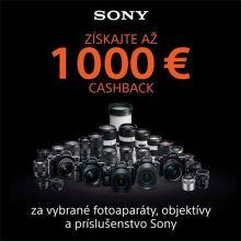 Cashback až do 1000 € na fototechniku Sony