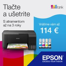 Cashback až do 114 € na tlačiarne Epson