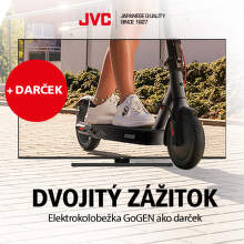 Kolobežka ako darček k novým QLED televízorom JVC