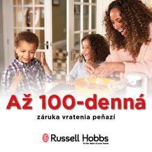 Záruka vrátenia peňazí až do 100 dní na produkty Russell Hobbs