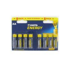 VARTA 4106 8X E alkalické batérie Energy 8 AA blister + HOT APPLE