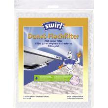 SWIRL 1600025 plochý pachový filter, prírodný do digestorov