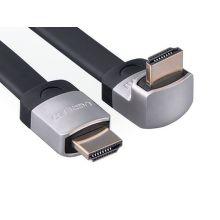 Ugreen 10284 - HDMI plochý + zahnutý konektor (dole) 3M