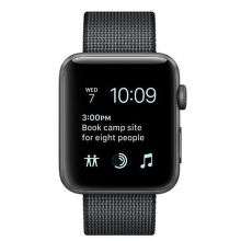 Apple Watch Series 2 42mm (vesmírne sivý hliník / čierny remienok z tkaného nylonu)