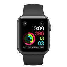 Apple Watch Series 2 38mm (vesmírne sivý hliník / čierny športový remienok)