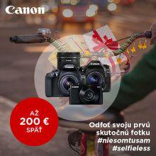 Zimný cashback až do 200 € na produkty Canon